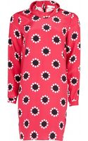 Matthew Williamson Polka Star Print Silk Roll Neck Dress - Lyst
