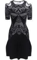McQ by Alexander McQueen Kaleidoscope Lace Jacquard Flirty Dress - Lyst