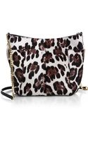 Jimmy Choo Anabel Leopard Calf Hair Crossbody Bag - Lyst