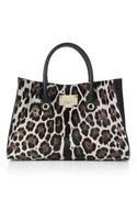 Jimmy Choo Leopardspotted Calf Hair and Leather Tote - Lyst