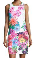 Laundry By Shelli Segal Floral-print Scuba Jersey Dress - Lyst