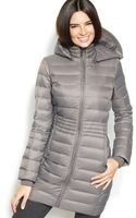 Inc International Concepts Hooded Quilted Packable Down Puffer Coat - Lyst