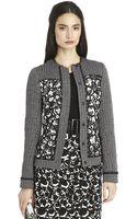 Oscar de la Renta Braided Tweed and Circle Lace Jacket - Lyst