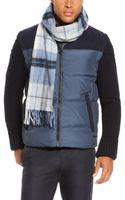 Hugo Boss Heivon  Wool-cashmere Plaid Scarf - Lyst