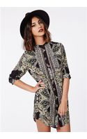Missguided Gretta Shirt Dress Paisley Print - Lyst