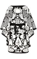Alexander McQueen Wool Jacquard Poncho - Lyst