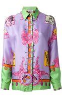 Versace Vintage Baroque Tennis Print Shirt - Lyst