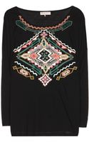 Emilio Pucci Embellished Cotton and Silk Top - Lyst