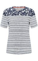 Tory Burch Issy Stripe T-shirt - Lyst