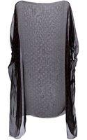 Dolce & Gabbana Polka Dot Sheer Blouse - Lyst