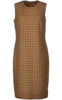 Burberry Kneelength Dress - Lyst