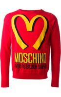 Moschino Logo Knit Sweater - Lyst