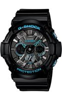 G-shock Mens Analogdigital Black Resin Strap Watch 55x53mm Ga201ba1a - Lyst