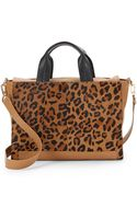 French Connection Cosmic Leopard-Print Calf Hair Tote Bag - Lyst