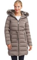 Diane Von Furstenberg Fur Trimmed Walker Coat - Lyst