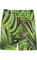 Osklen Foliage Print Shorts - Lyst