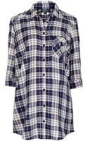 Topshop Maternity Oversized Check Shirt - Lyst