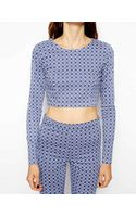 Asos Denim Tile Print Top - Lyst