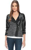 Ella Moss Isa Boucle Sweater Jacket - Lyst