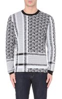 McQ by Alexander McQueen Razor-check Knitted Jumper - For Men - Lyst