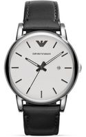 Emporio Armani Luigi Leather Strap Watch 41mm - Lyst