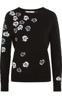 Prabal Gurung Floral Intarsia Knitted Sweater - Lyst