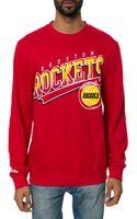 Mitchell & Ness The Houston Rockets Diagonal Logo Sweatshirt - Lyst