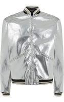 Saint Laurent Patent Teddy Jacket - Lyst