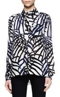 Proenza Schouler Printed Buttonfront Blouse - Lyst