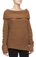 Donna Karan New York Oversized Cowlneck Sweater - Lyst