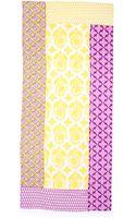 Diane Von Furstenberg New Boomerang Scarf Indian Brocade Yellow Combo - Lyst