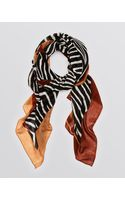 Tory Burch Zebra Print Scarf - Lyst
