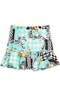 Pixie Market Printed Peplum Hem Skirt - Lyst