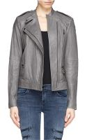 Vince Quilted Leather Jacket - Lyst