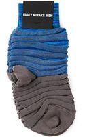 Issey Miyake Men Ikat Stripe Socks - Lyst