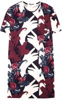 Carven Flower Print Tshirt Dress - Lyst