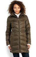 Ellen Tracy Hooded Packable Down Coat - Lyst
