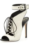 B Brian Atwood Lodosa Laceup Snake Sandal - Lyst