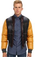 DSquared2 Mixed Fabric Bomber - Lyst