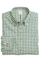 Brooks Brothers Regular Fit Flannel Gingham Sport Shirt - Lyst