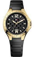 Tommy Hilfiger Womens Black Silicone Strap Watch 38mm - Lyst