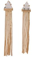 Metropark Triangle Fringe Earrings - Lyst