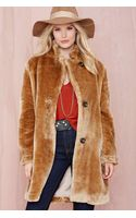 Nasty Gal Butter Me Up Faux Fur Jacket - Lyst
