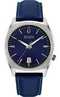 Bulova 96b212 Surveyor Accutron Ii Stainless Steel and Leather Watch Blue - Lyst