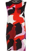 River Island Black Abstract Print Sleeveless Tunic - Lyst