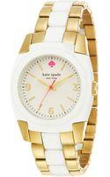Kate Spade Ladies Goldtone White Skyline Watch - Lyst