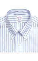 Brooks Brothers Non-iron Extra-slim Fit Sidewheeler Stripe Dress Shirt - Lyst