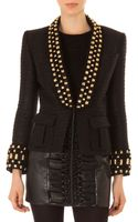 Balmain Embellished Short Tuxedo Jacket - Lyst