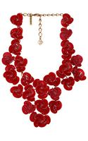 Oscar de la Renta Resin Swirl Flower Necklace - Lyst