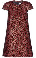 Saint Laurent Jacquard Dress - Lyst